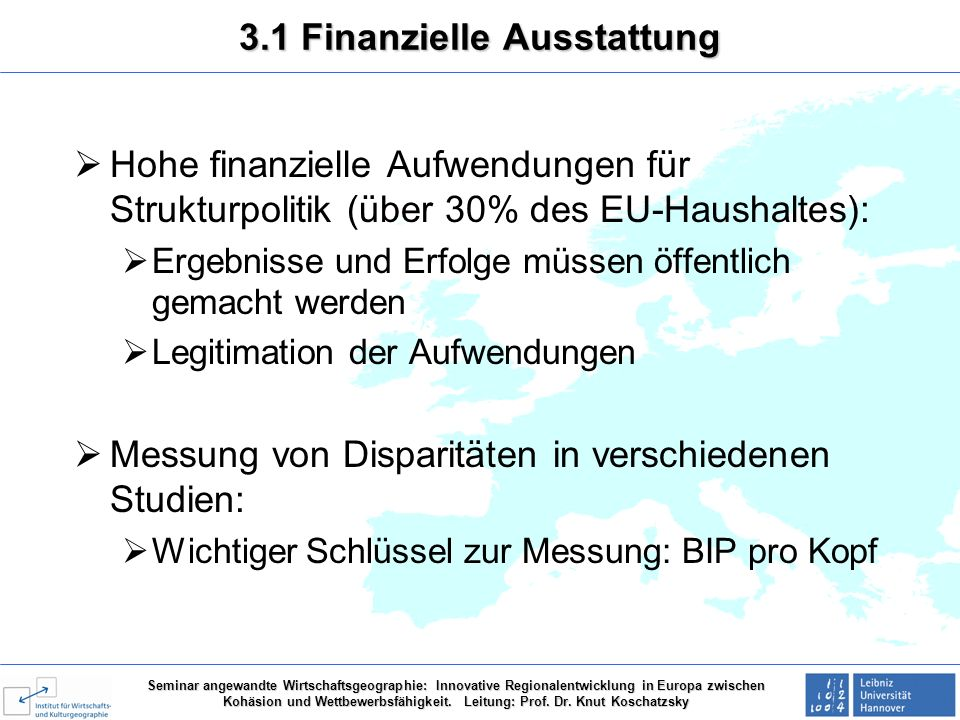 3.1 Finanzielle Ausstattung