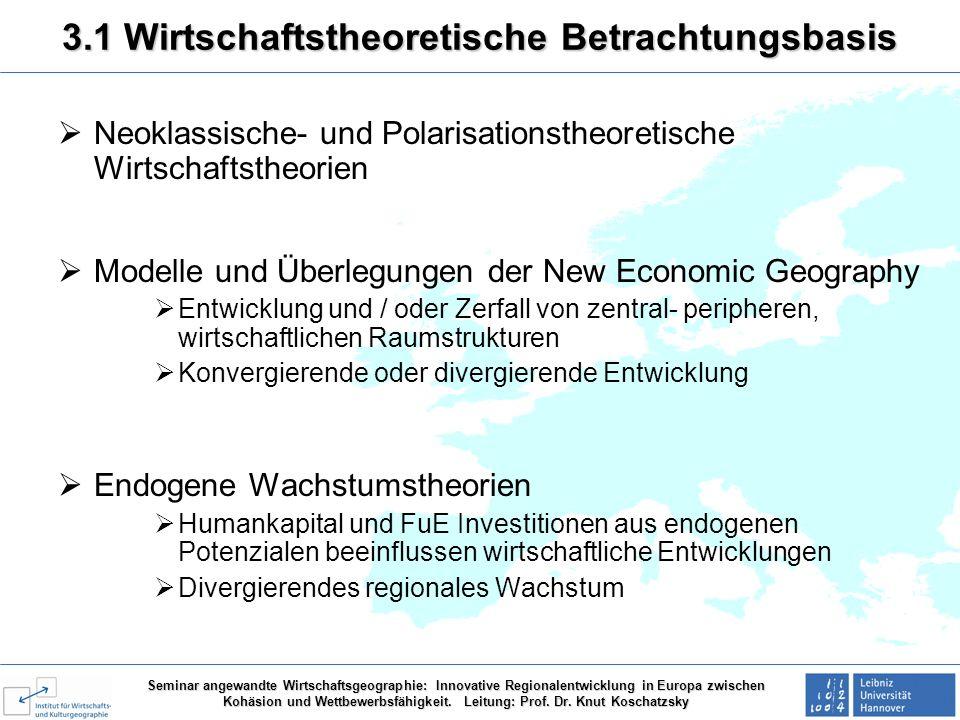 3.1 Wirtschaftstheoretische Betrachtungsbasis