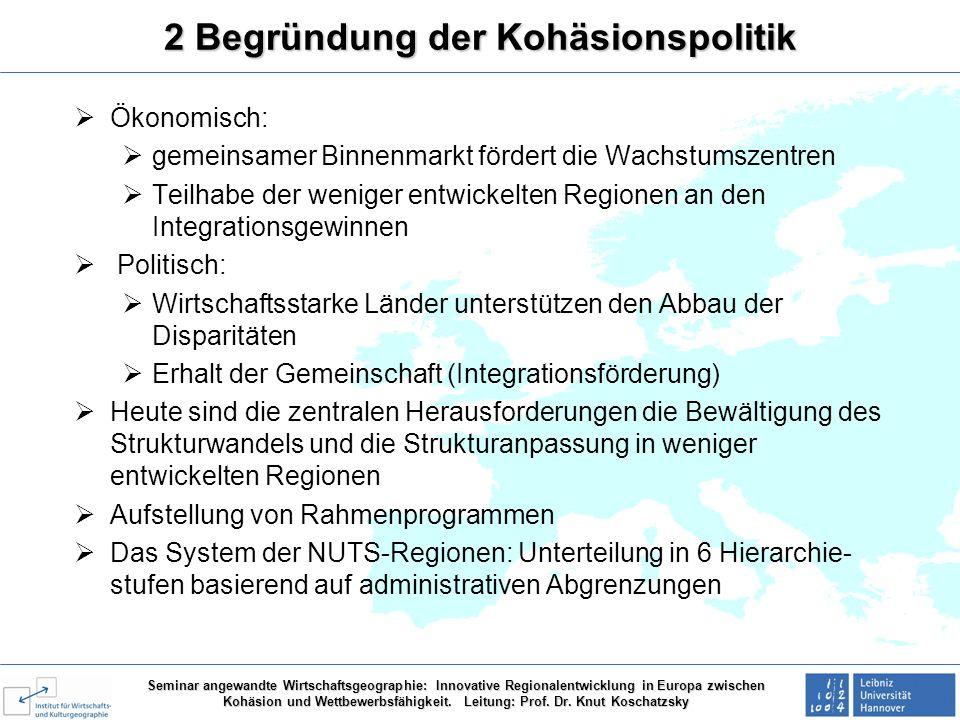 2 Begründung der Kohäsionspolitik