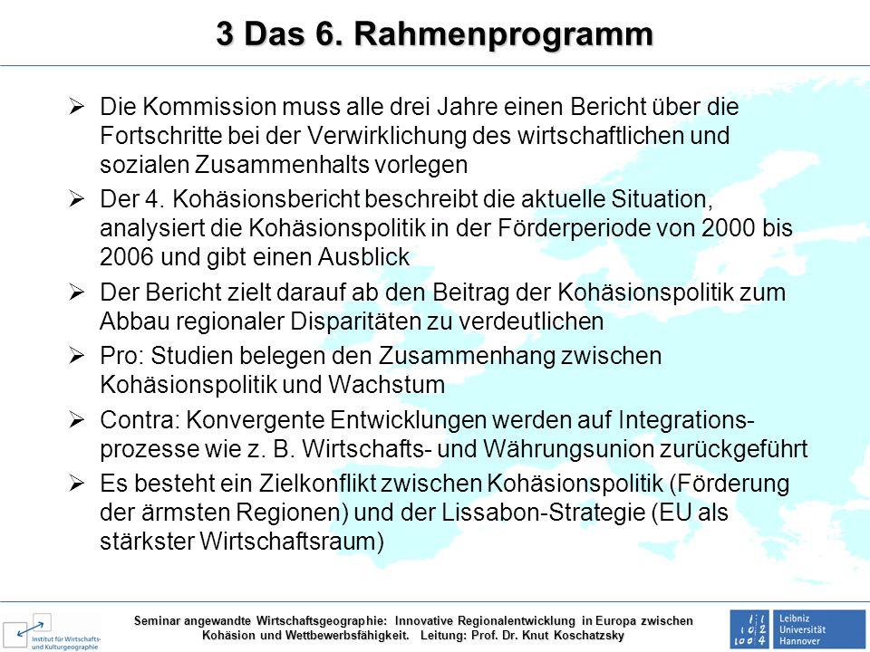3 Das 6. Rahmenprogramm