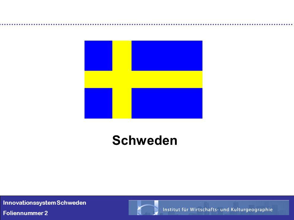Schweden Innovationssystem Schweden Foliennummer 2