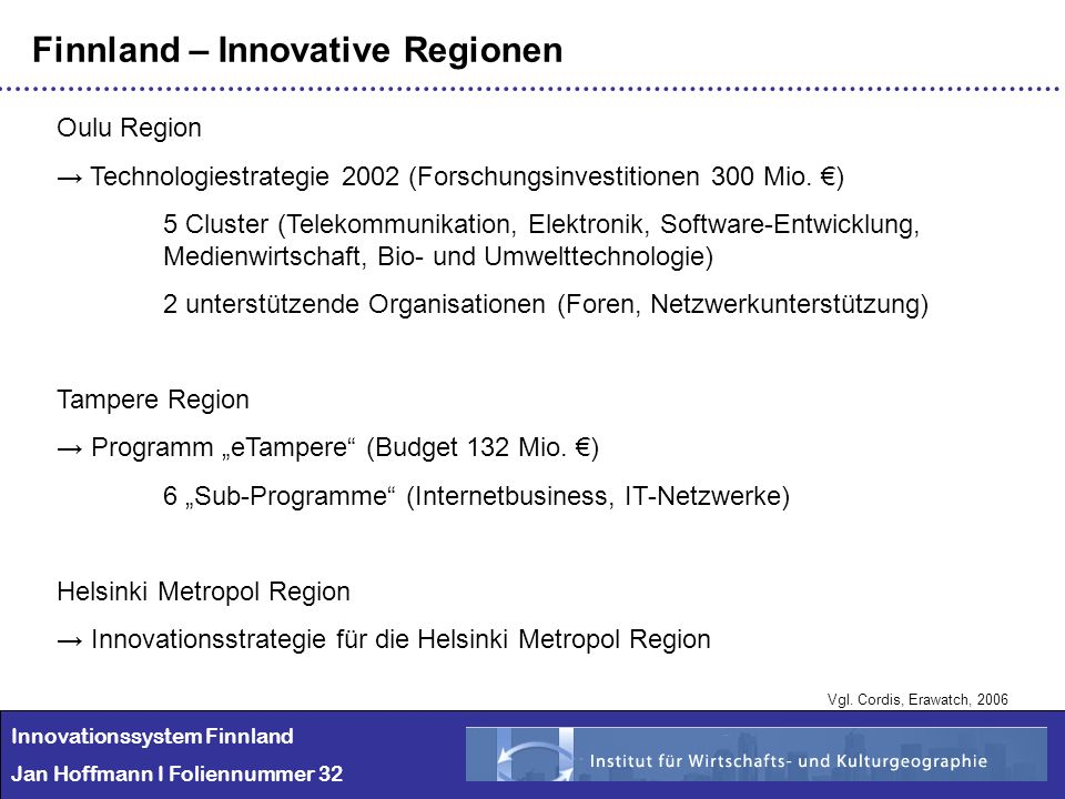 Finnland – Innovative Regionen