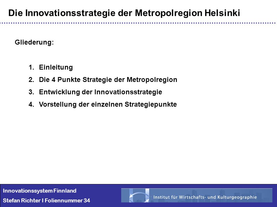 Die Innovationsstrategie der Metropolregion Helsinki