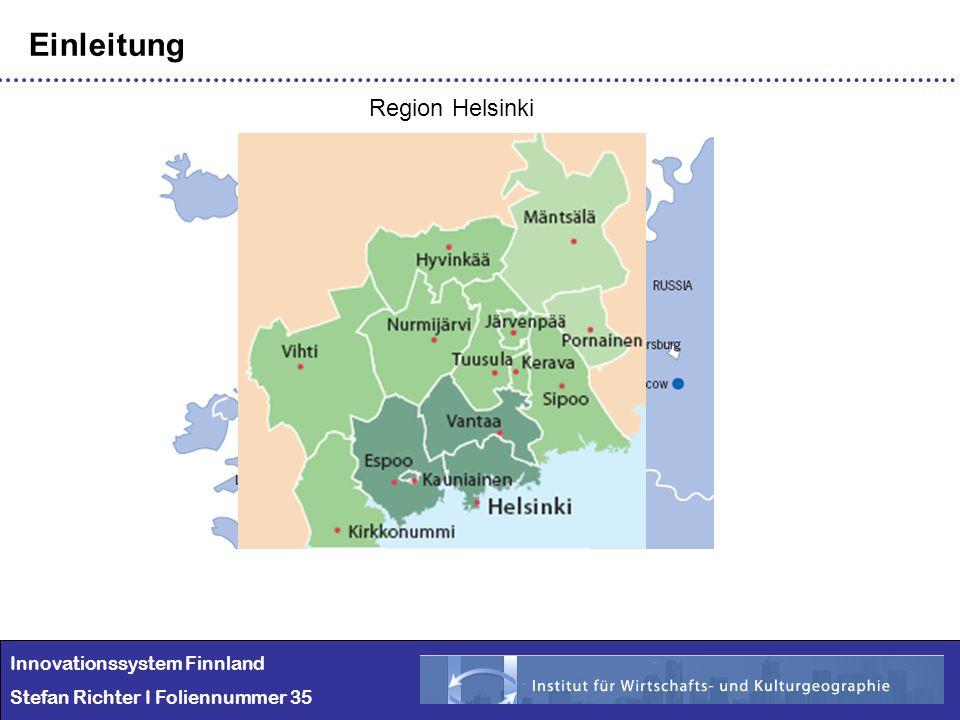 Einleitung Region Helsinki Innovationssystem Finnland