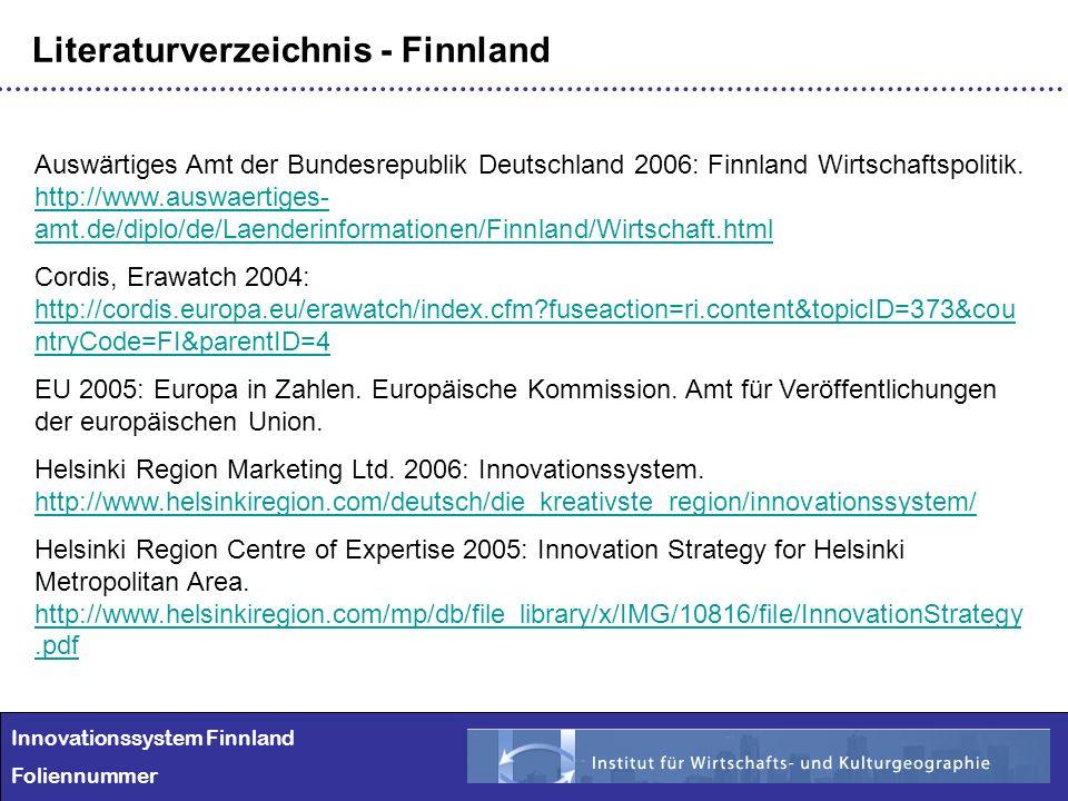 Literaturverzeichnis - Finnland
