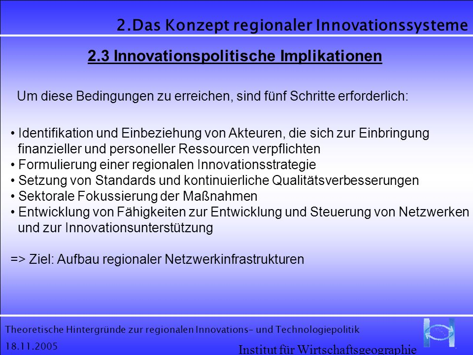 2.3 Innovationspolitische Implikationen