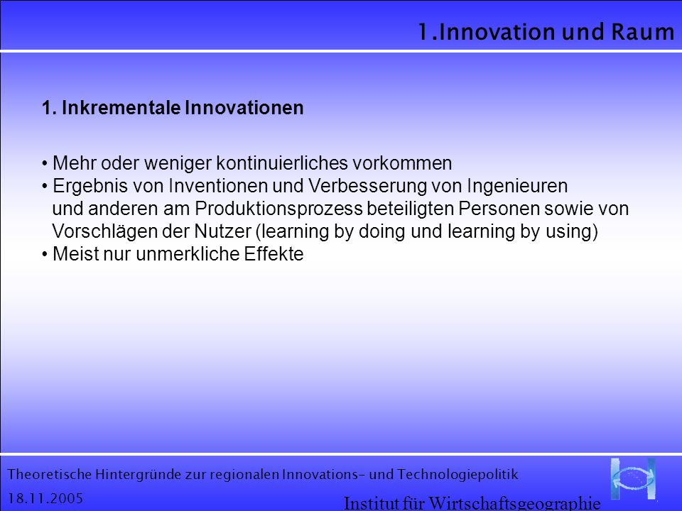 1. Inkrementale Innovationen