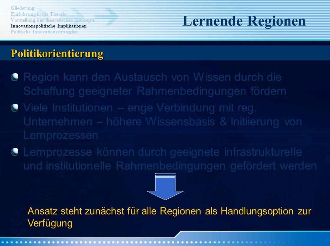 Lernende Regionen Politikorientierung