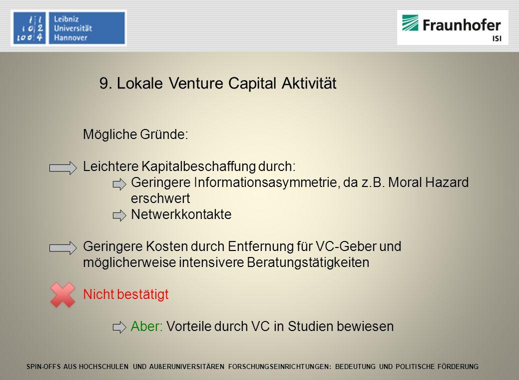 9. Lokale Venture Capital Aktivität