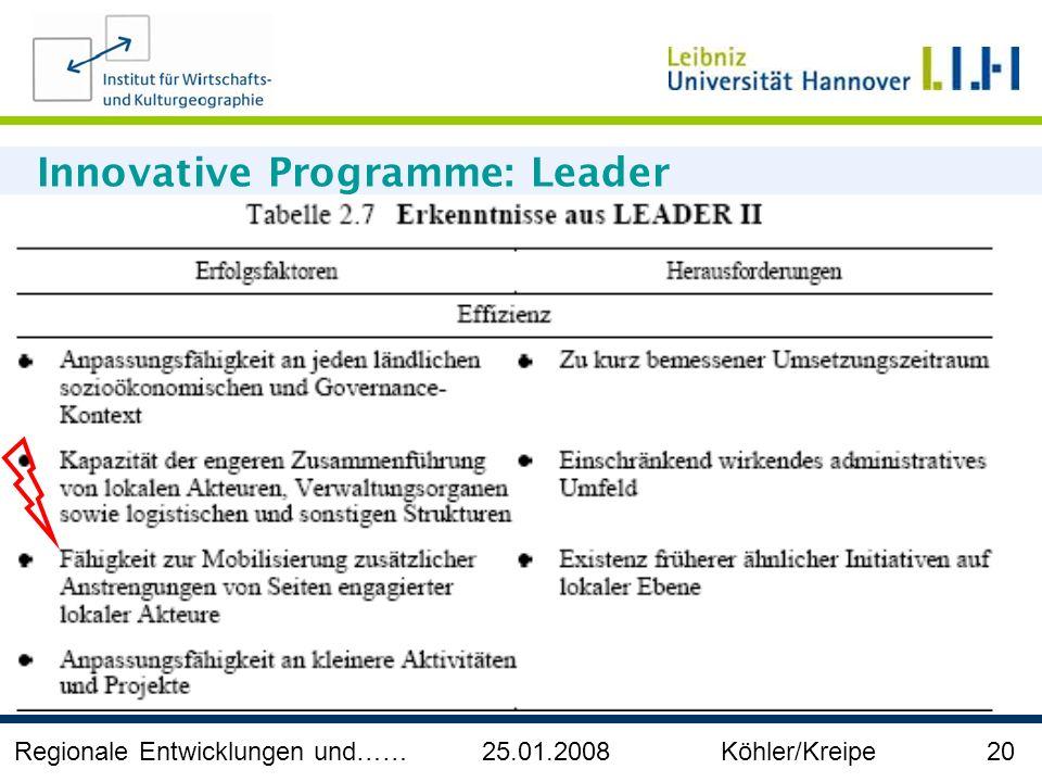 Innovative Programme: Leader