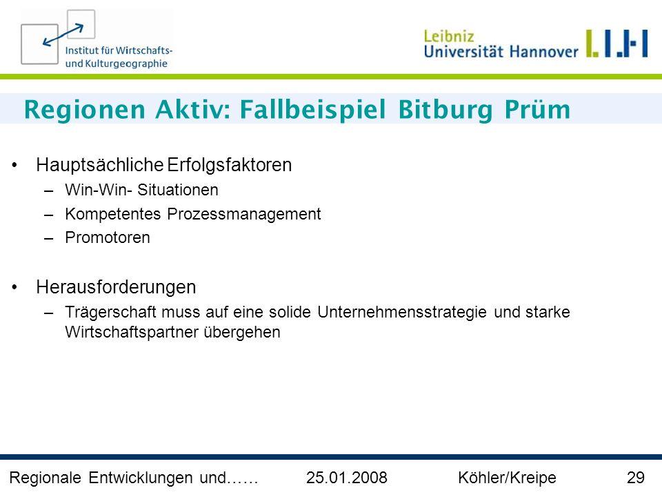 Regionen Aktiv: Fallbeispiel Bitburg Prüm