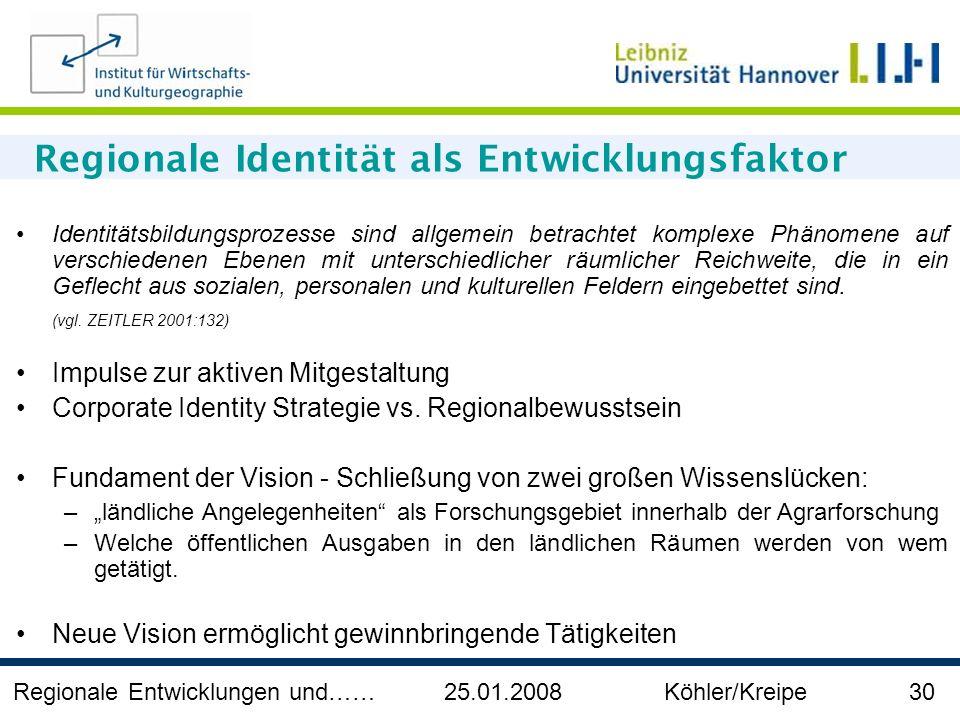 Regionale Identität als Entwicklungsfaktor