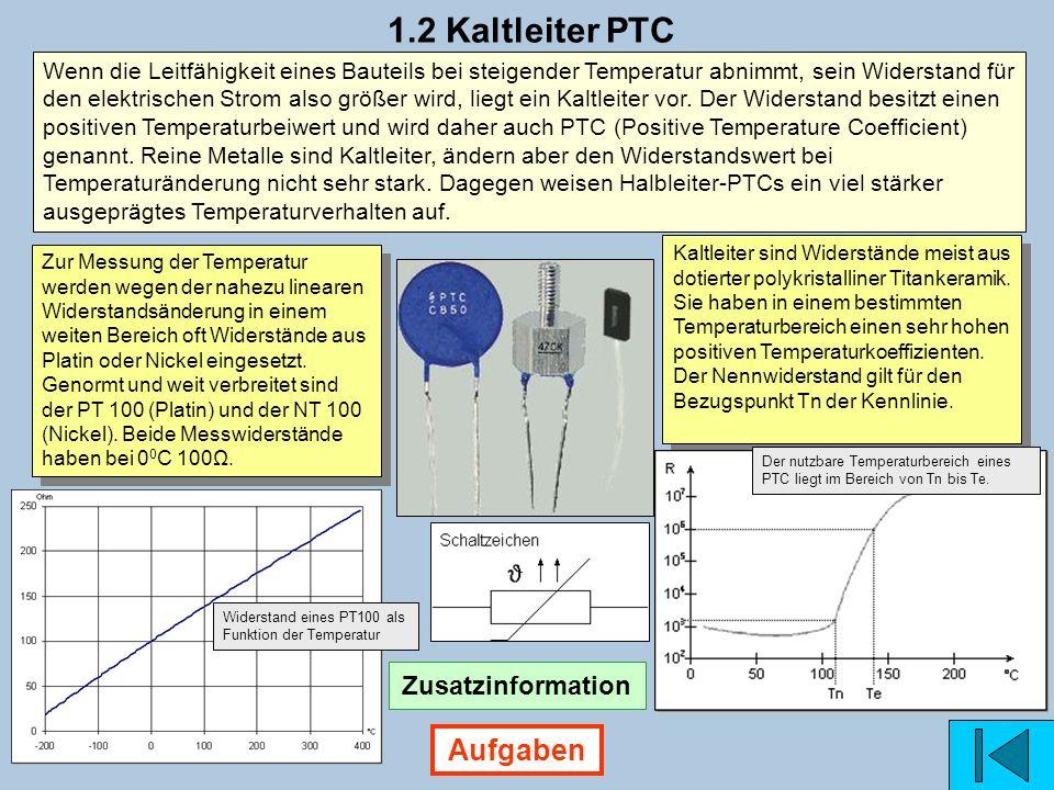1.2 Kaltleiter PTC Aufgaben Zusatzinformation