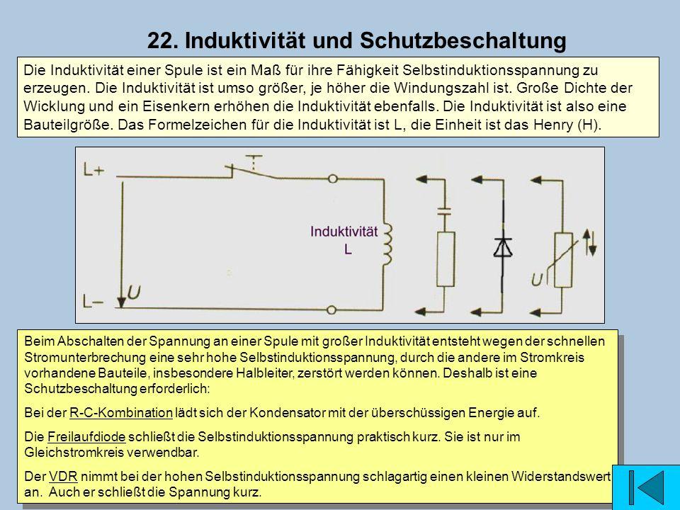 22. Induktivität und Schutzbeschaltung