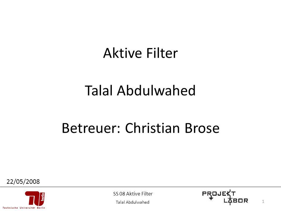 Betreuer: Christian Brose