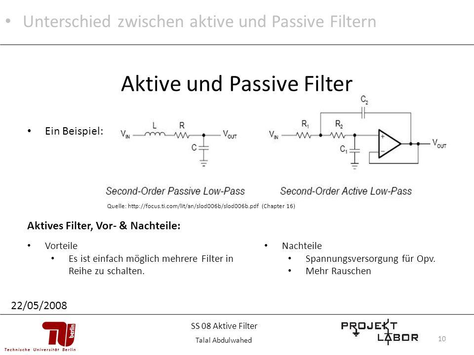 Aktive und Passive Filter