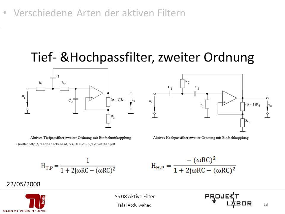Tief- &Hochpassfilter, zweiter Ordnung