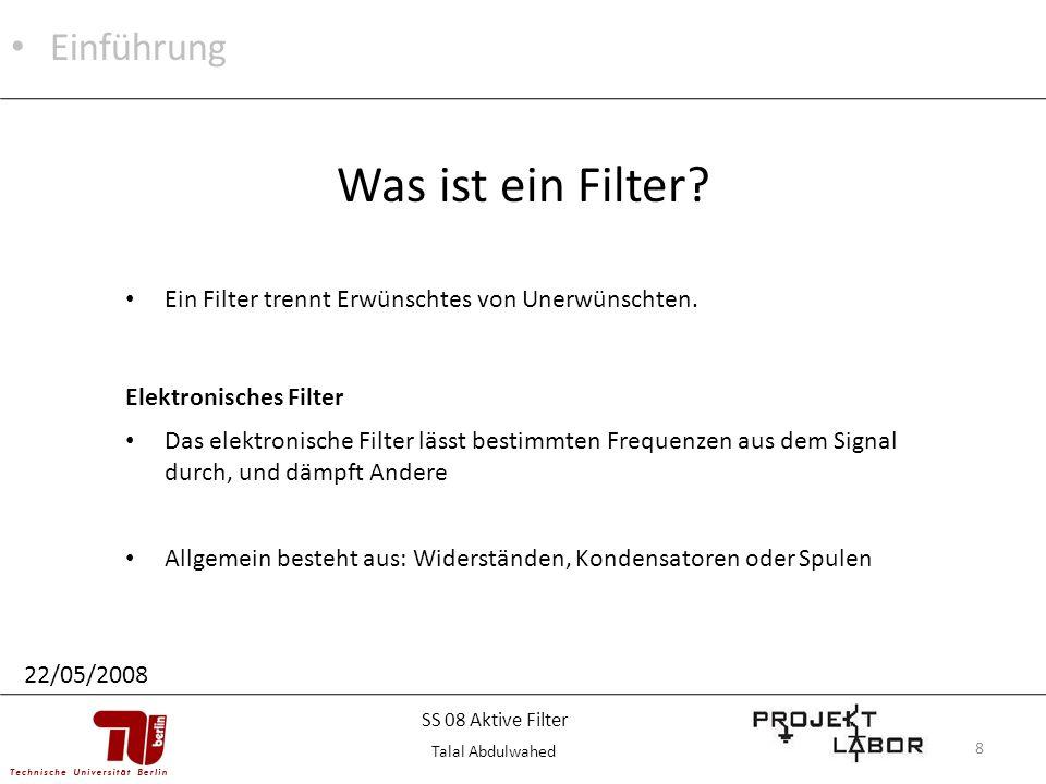 Was ist ein Filter Einführung