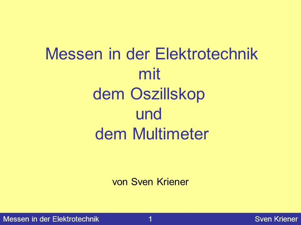 Messen in der Elektrotechnik