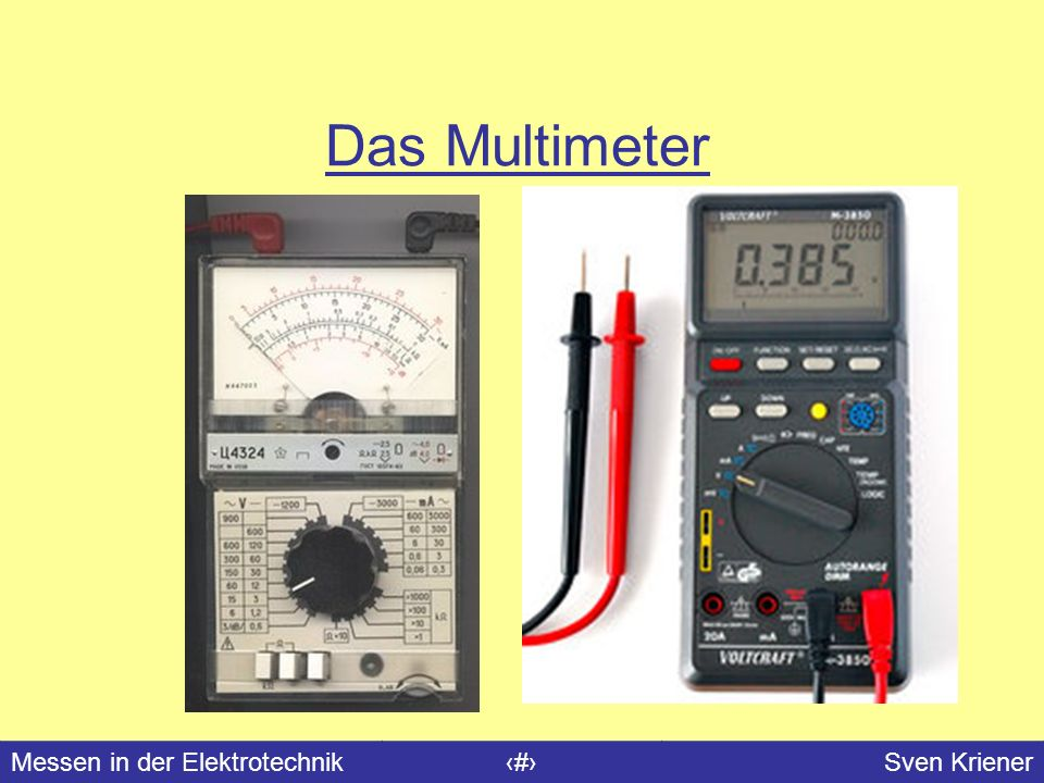Das Multimeter