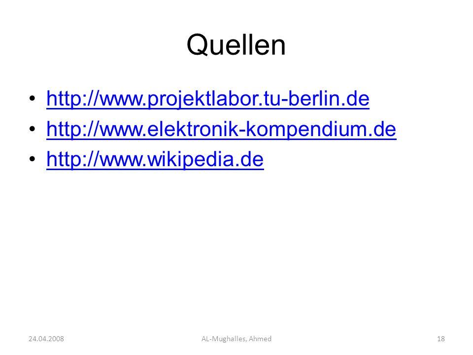 Quellen http://www.projektlabor.tu-berlin.de