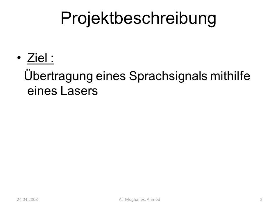 Projektbeschreibung Ziel :