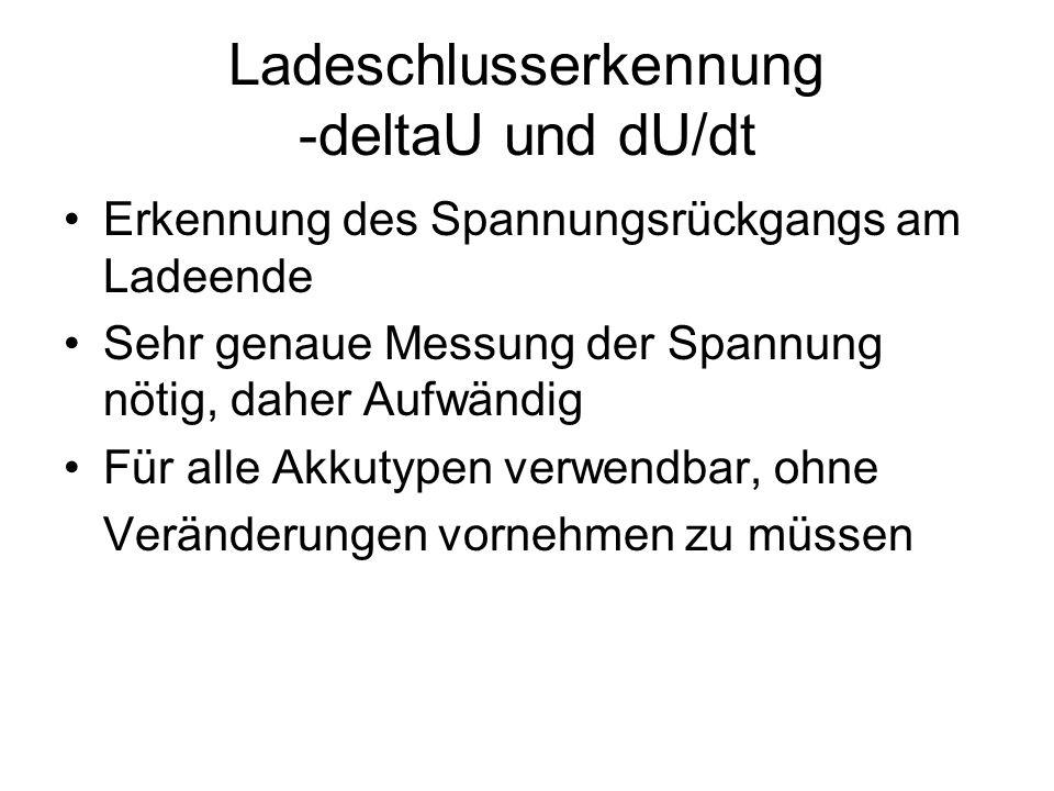 Ladeschlusserkennung -deltaU und dU/dt
