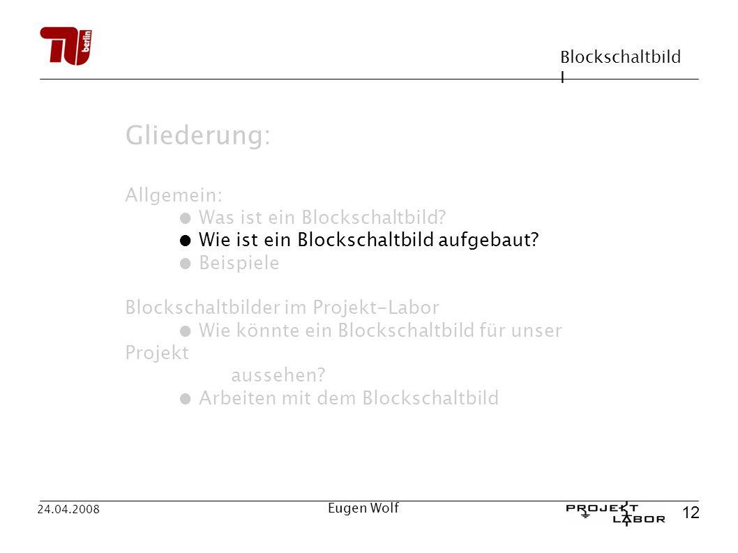Gliederung: Allgemein: ● Was ist ein Blockschaltbild