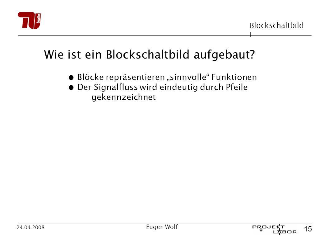 Wie ist ein Blockschaltbild aufgebaut