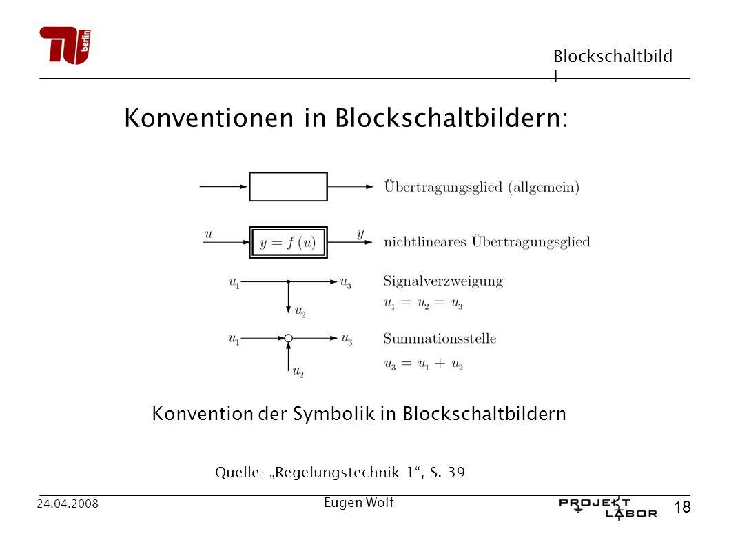 Konventionen in Blockschaltbildern: