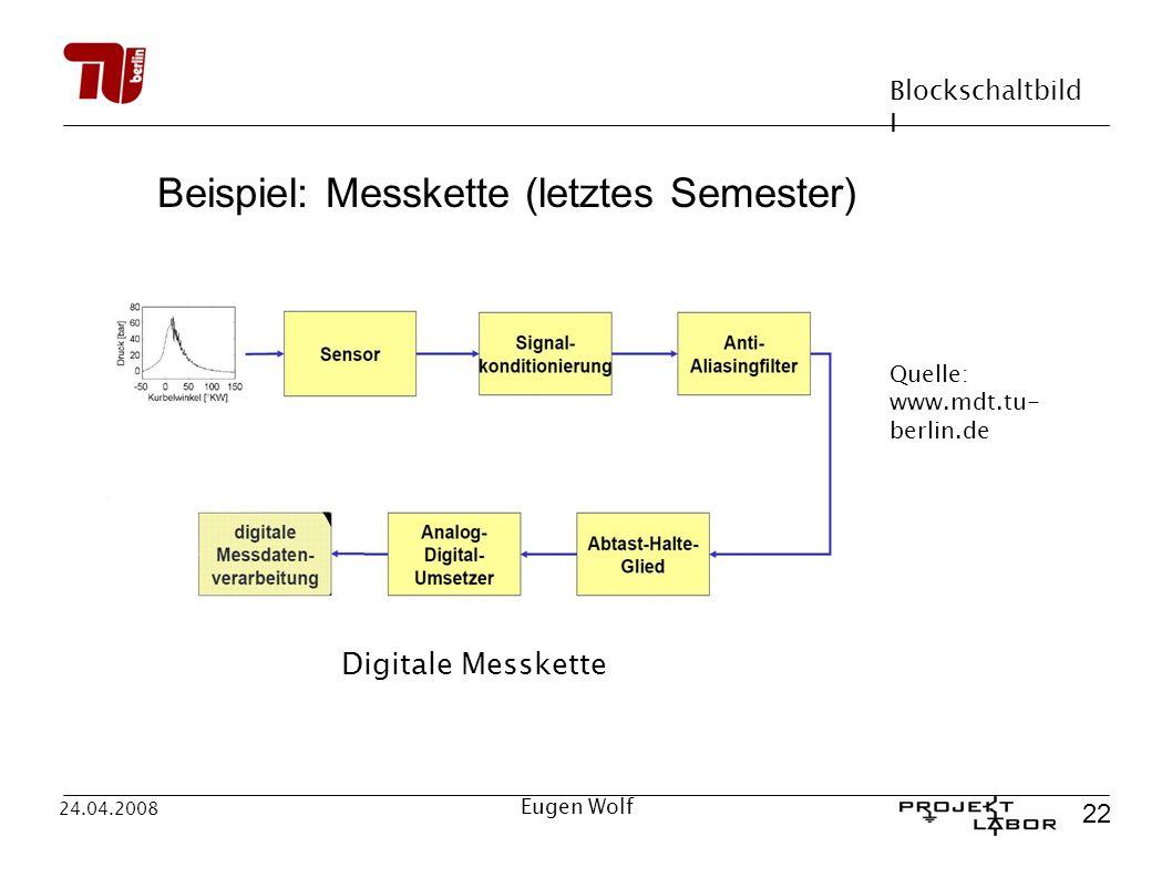 Beispiel: Messkette (letztes Semester)