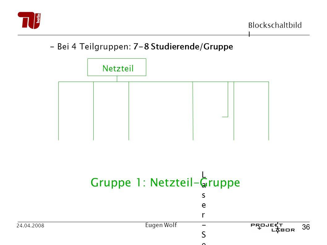 Gruppe 1: Netzteil-Gruppe