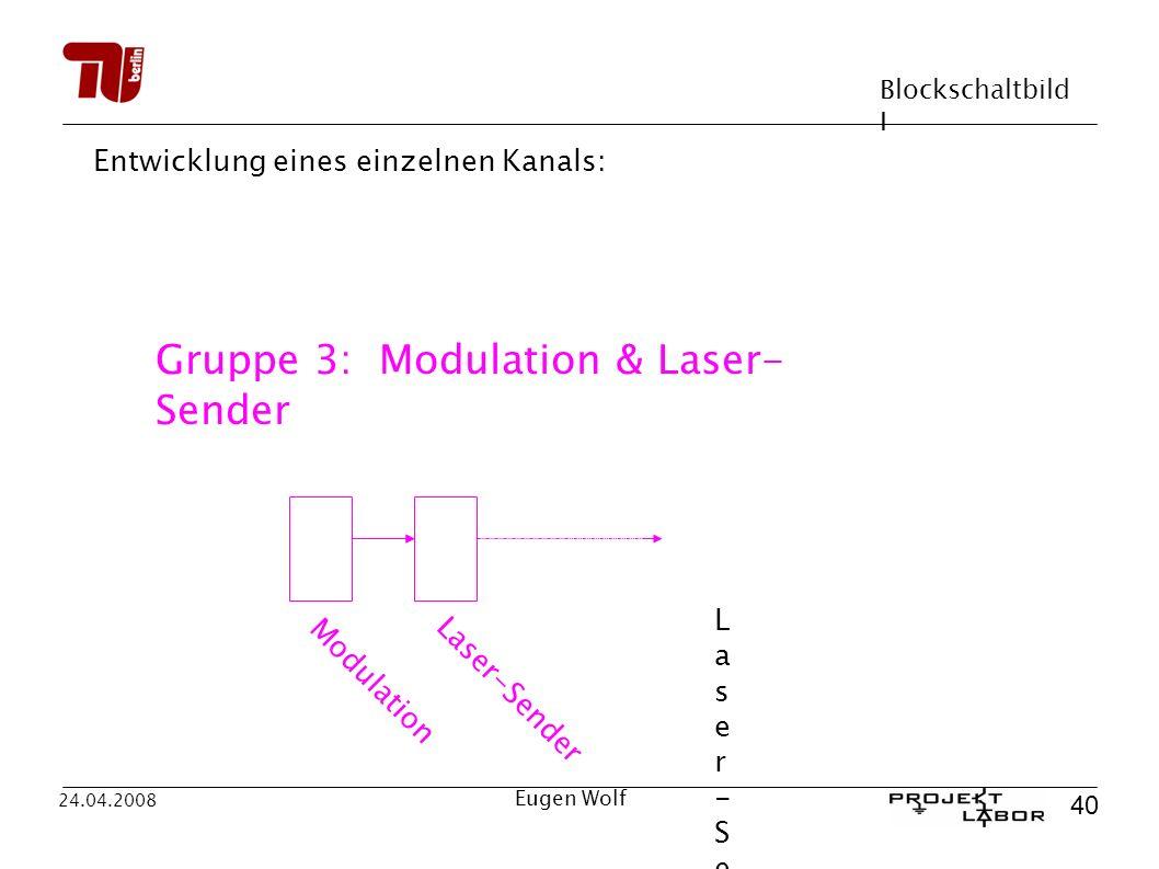 Gruppe 3: Modulation & Laser-Sender