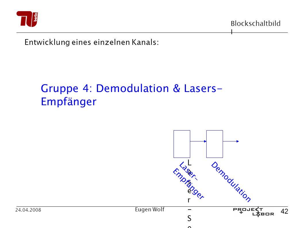 Gruppe 4: Demodulation & Lasers-Empfänger