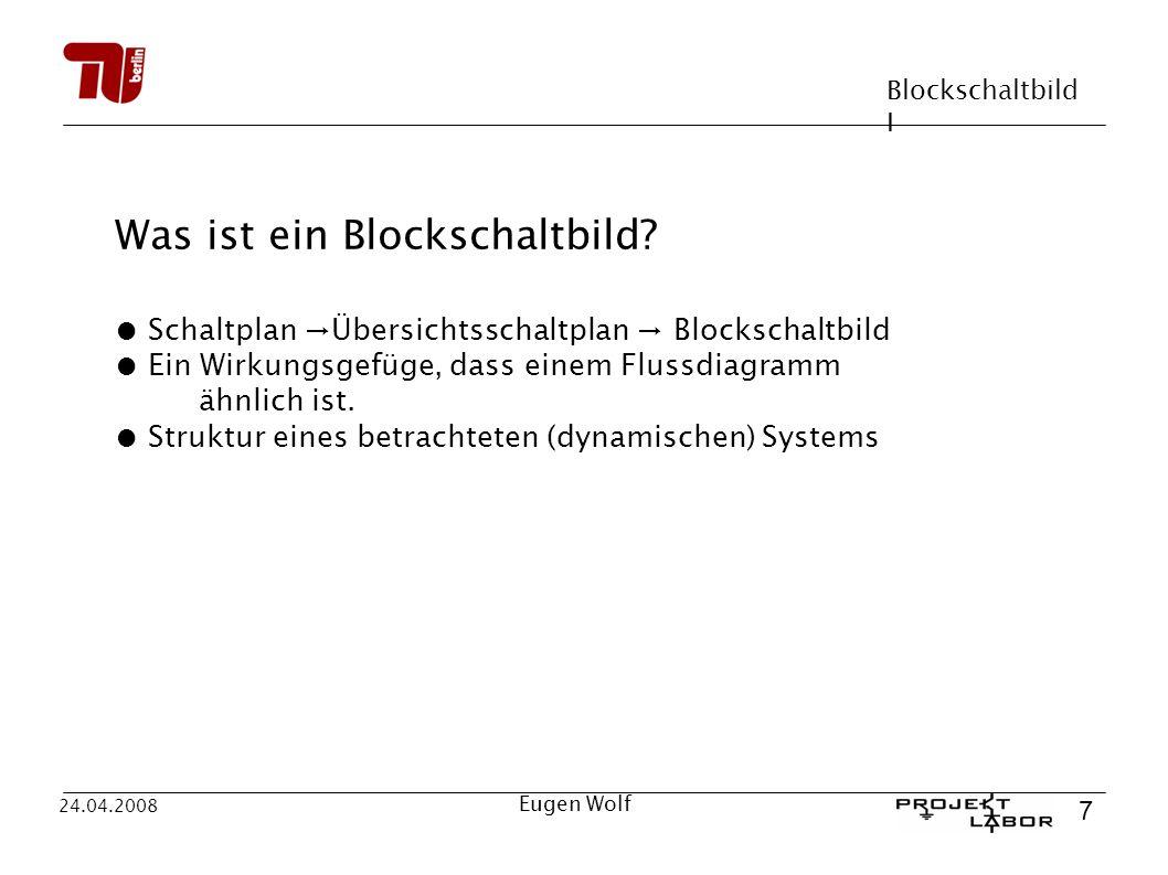 Was ist ein Blockschaltbild