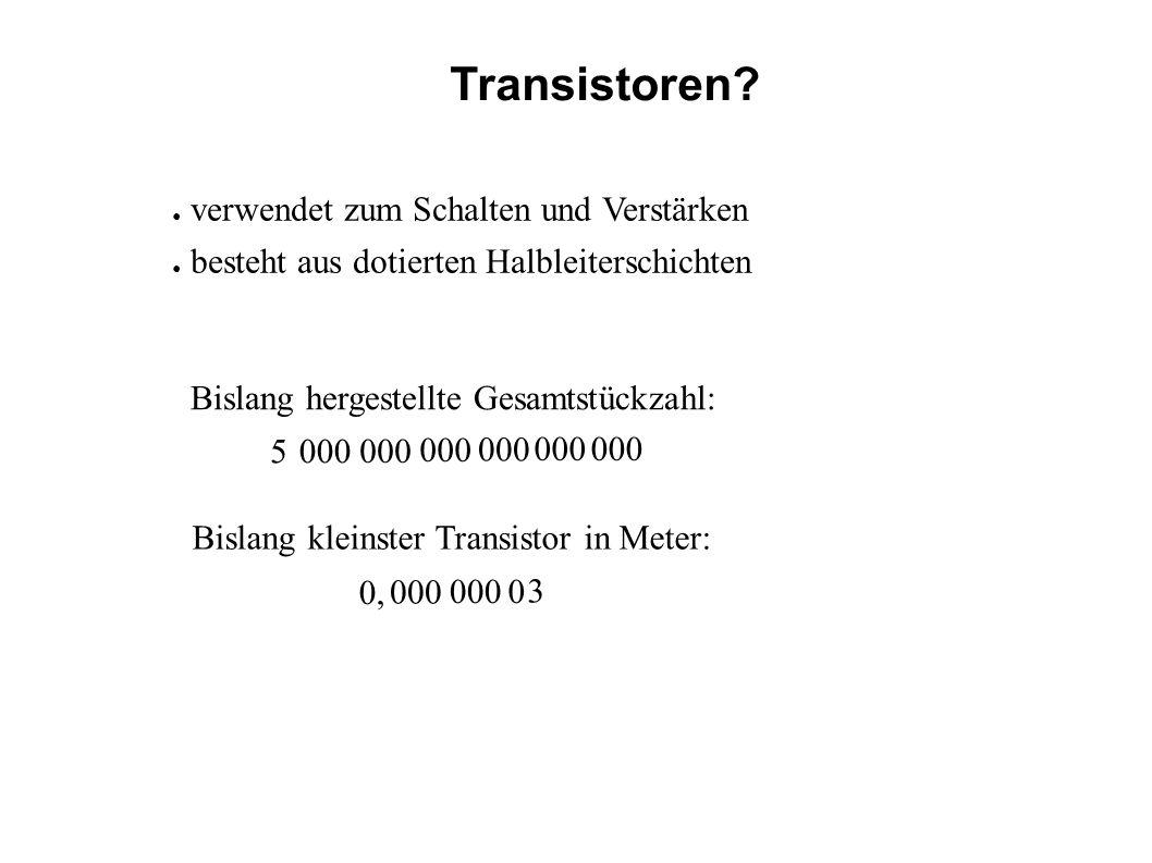 Transistoren verwendet zum Schalten und Verstärken