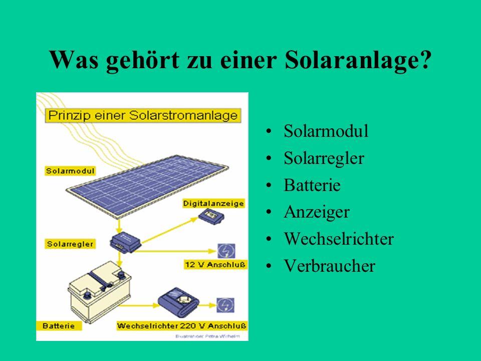 Was gehört zu einer Solaranlage