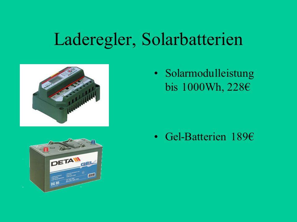 Laderegler, Solarbatterien