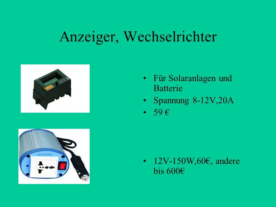 Anzeiger, Wechselrichter