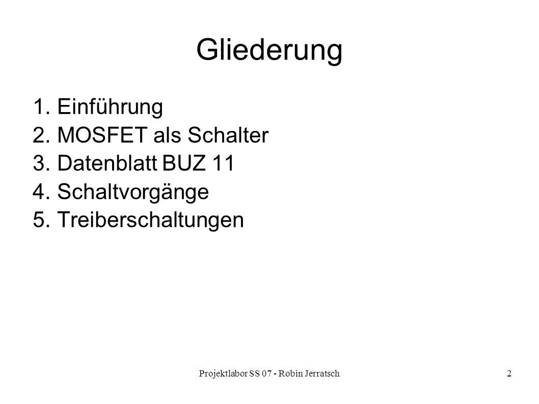 Projektlabor SS 07 - Robin Jerratsch