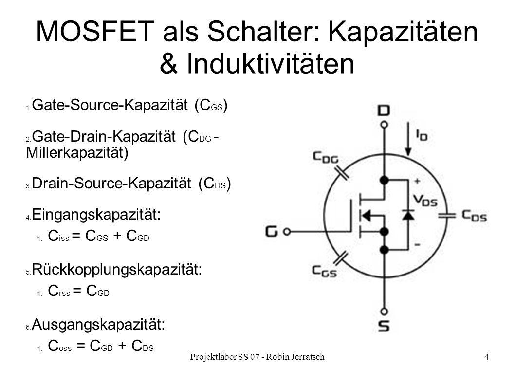 MOSFET als Schalter: Kapazitäten & Induktivitäten