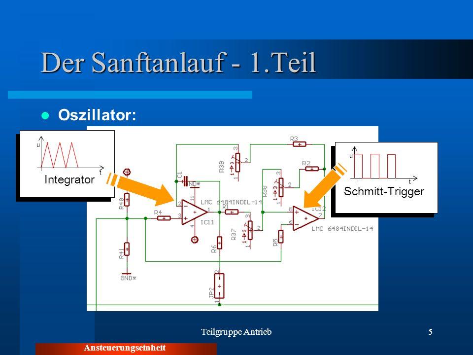 Der Sanftanlauf - 1.Teil Oszillator: Integrator Schmitt-Trigger