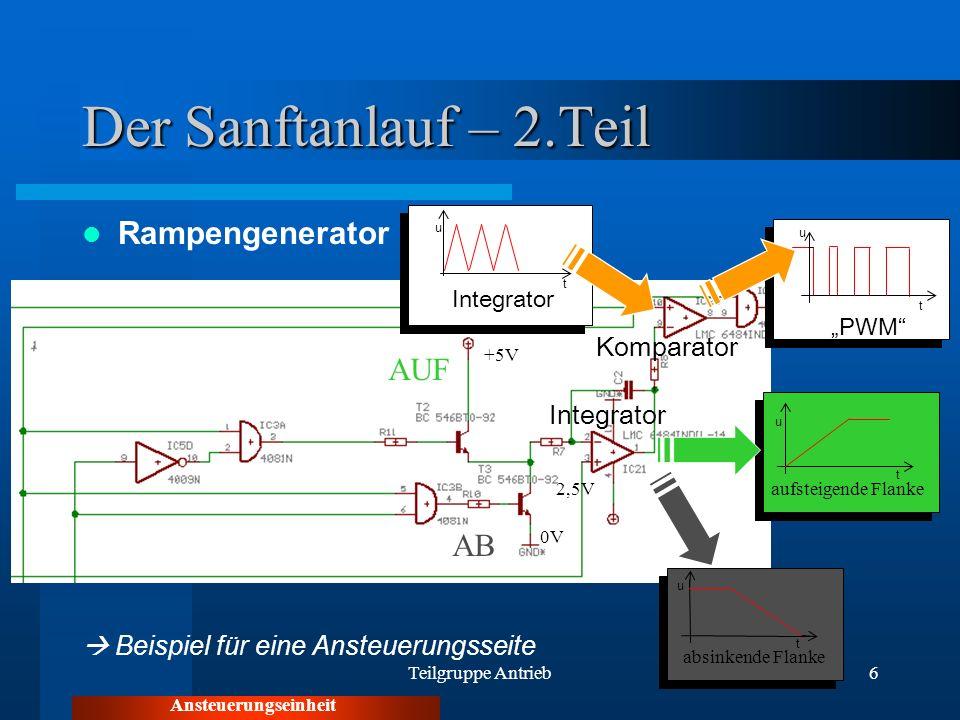 Der Sanftanlauf – 2.Teil Rampengenerator AUF AB Komparator Integrator