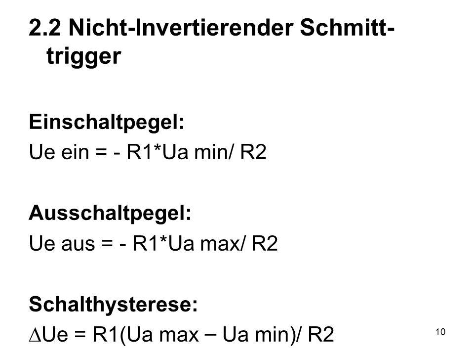 2.2 Nicht-Invertierender Schmitt-trigger