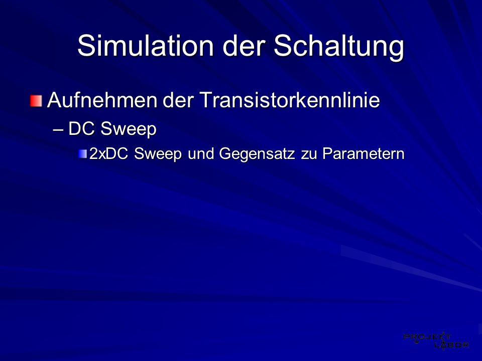 Simulation der Schaltung
