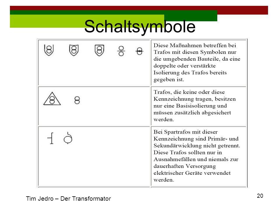Schaltsymbole Tim Jedro – Der Transformator