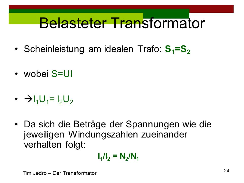 Belasteter Transformator