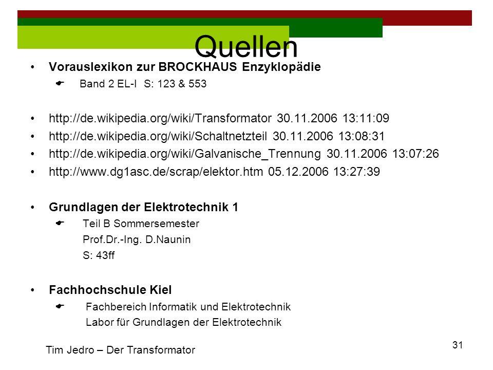 Quellen Vorauslexikon zur BROCKHAUS Enzyklopädie