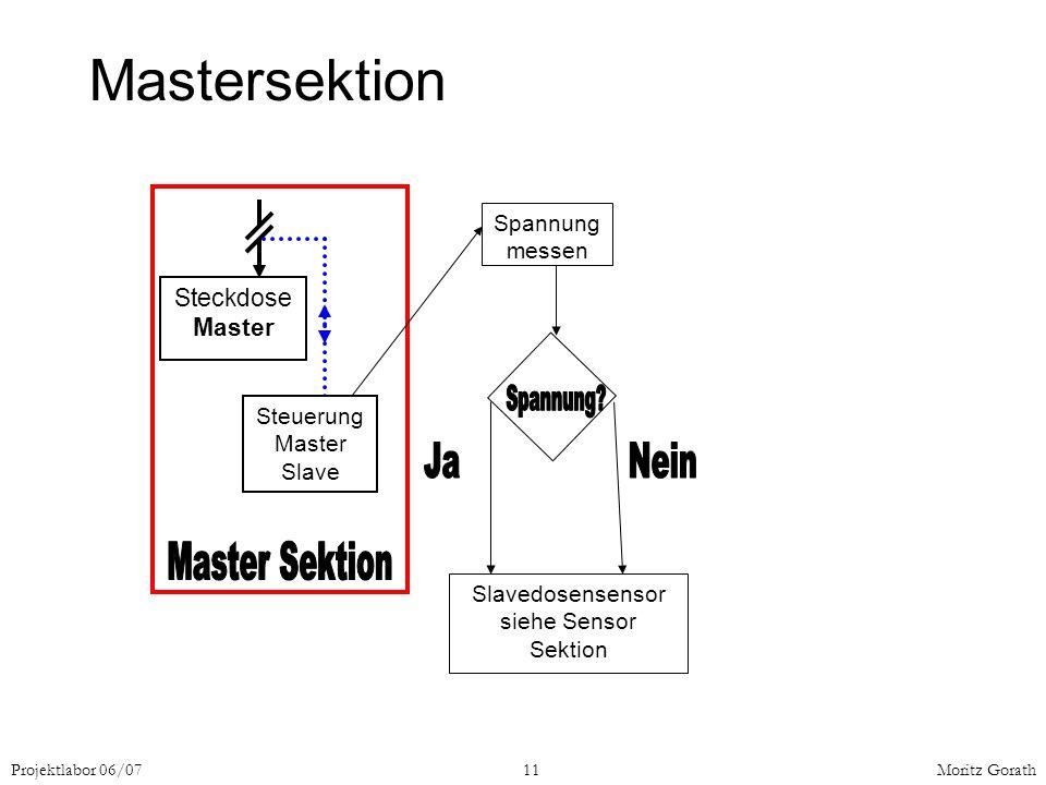 Mastersektion Master Sektion Spannung Ja Nein Steckdose Master