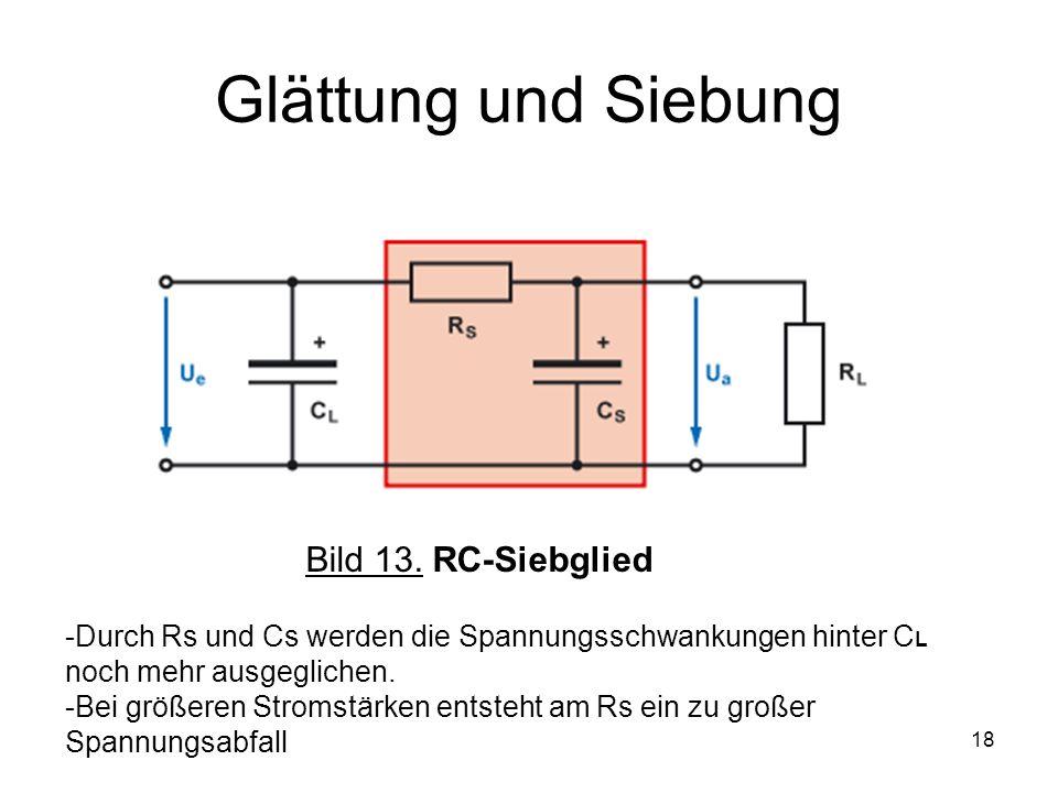 Glättung und Siebung Bild 13. RC-Siebglied